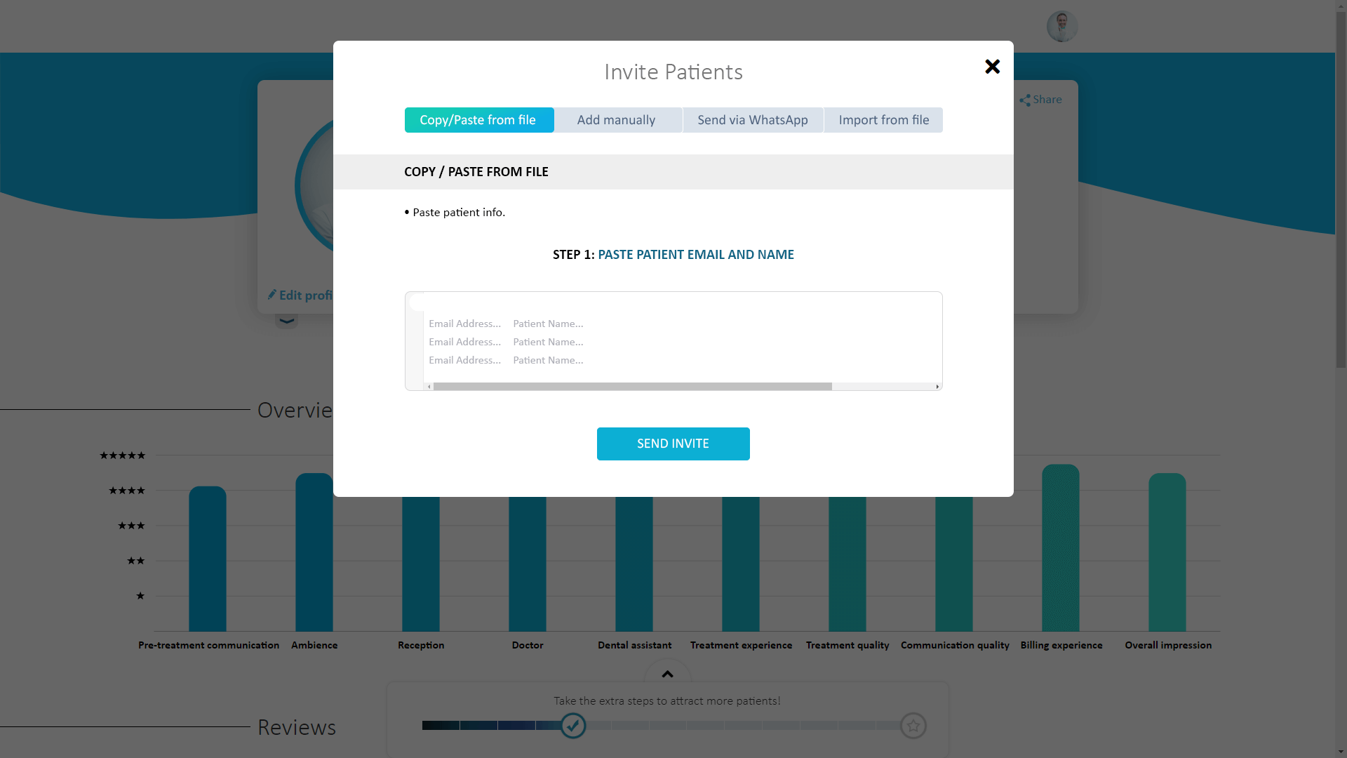 Options for automated review invites