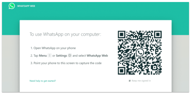 WhatsApp application on your mobile