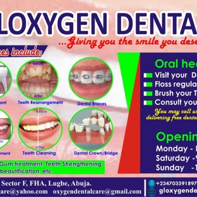 Reviews for dentist Gloxygen Dental Care in Municipal Area Coun, Federal Capital Territory, Nigeria