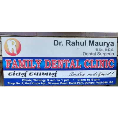 Reviews for dentist Dr. Rahul Maurya in Vapi, Dadra and Nagar Haveli, India